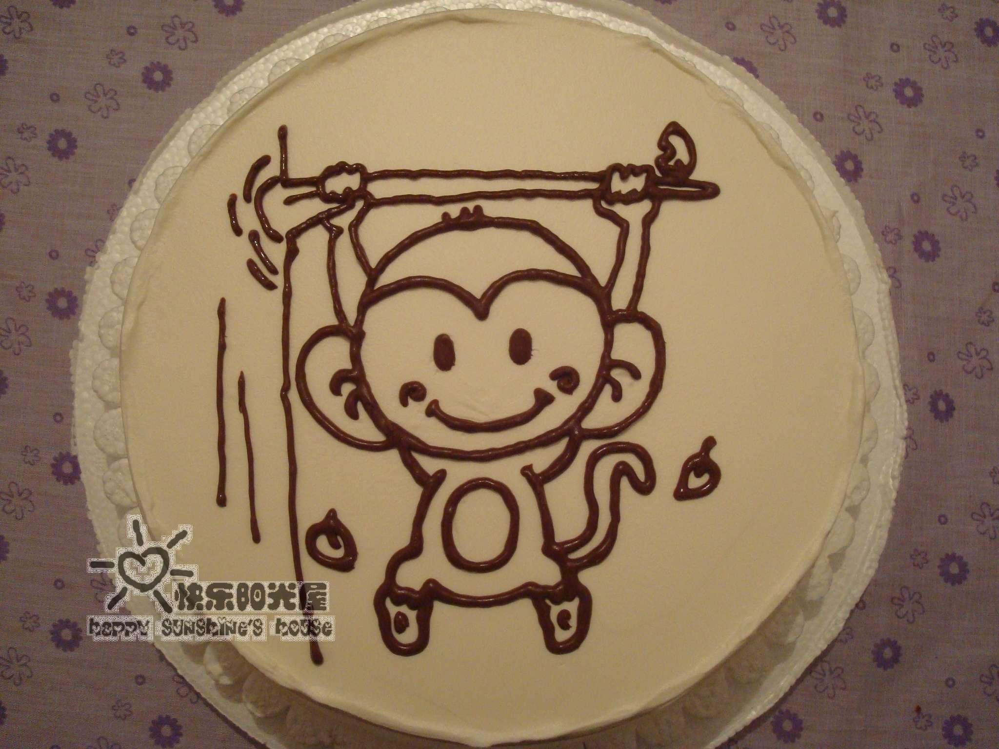 再发一个卡通蛋糕——可爱小猴蛋糕