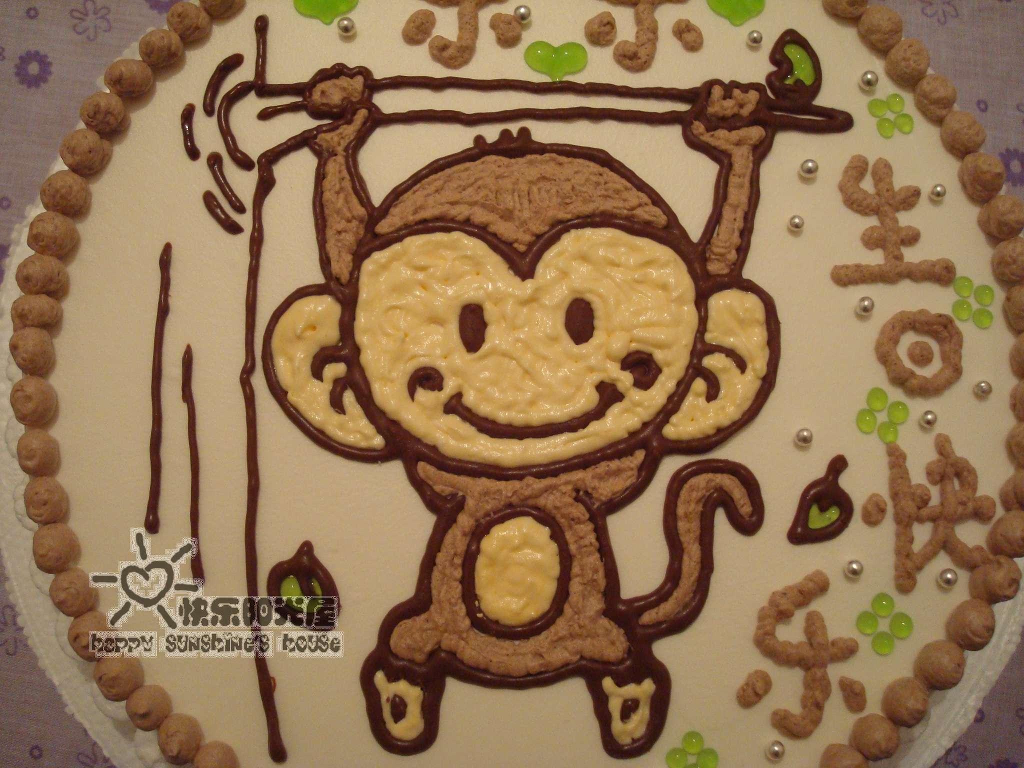 主题:再发一个卡通蛋糕——可爱小猴蛋糕