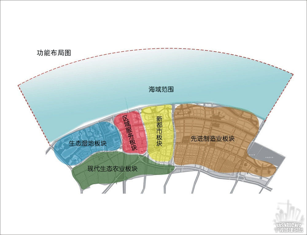 杭州湾新区规划图