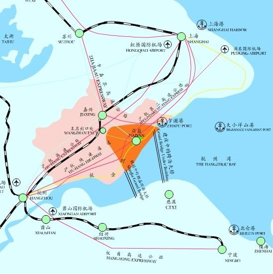 """好消息:杭州湾跨海铁路(沪甬铁路)已列入""""十二五""""规划"""