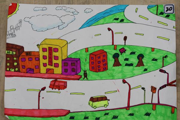 简单蜡笔画美术作品_六年级美术作品蜡笔画_-儿童简单蜡笔画 儿童简