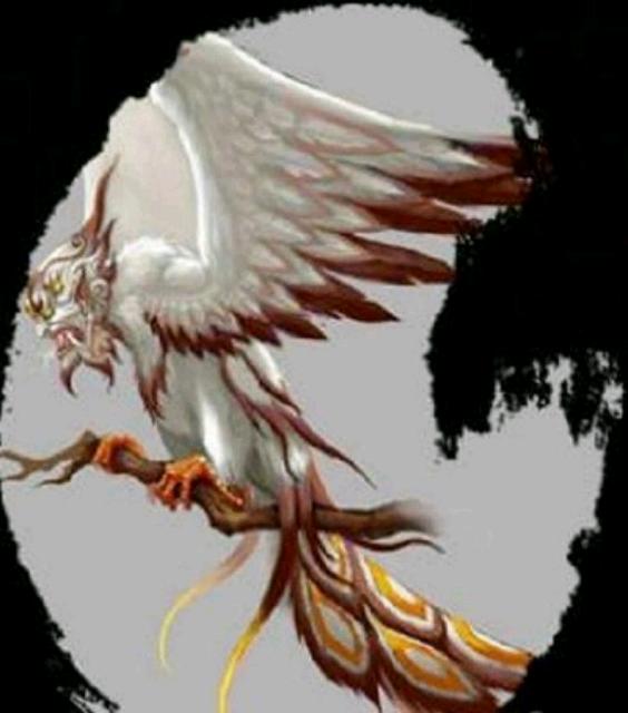 中国 于青/大凤传说中一种凶恶的鸷鸟。尧时为害于民,被大羿射杀于青丘...
