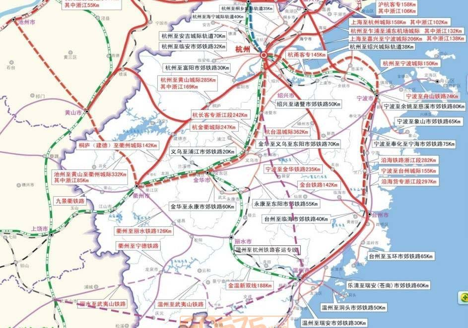 浙江省发改委9月4日发布的《浙江省铁路网规划(2011—2030年)》中,宁