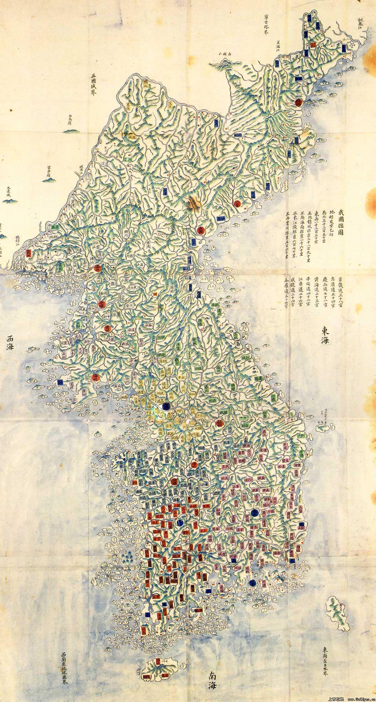 朝鲜老地图