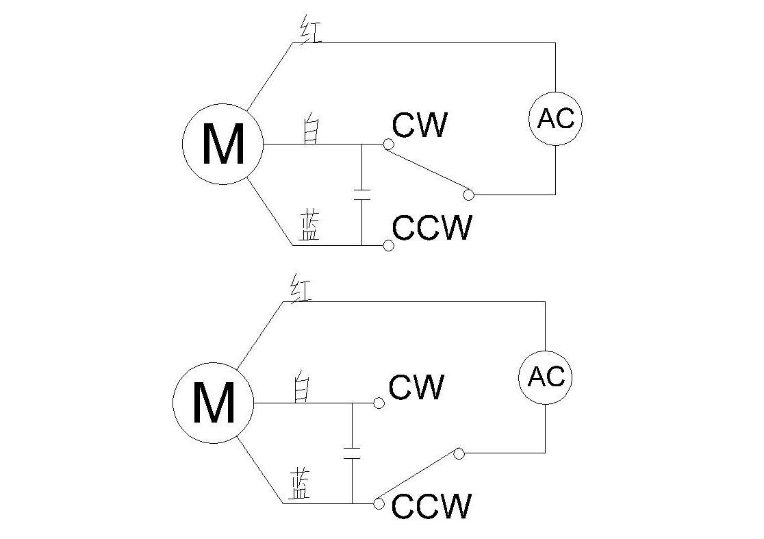 220v的单相电动机怎么用倒顺开关正反转