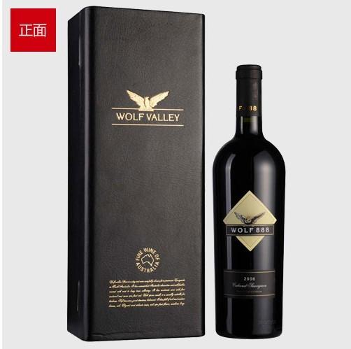 澳洲禾富888赤霞珠2006年干红葡萄酒皮盒装750ml 人民币
