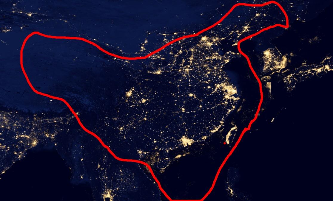 半岛卫星夜景照