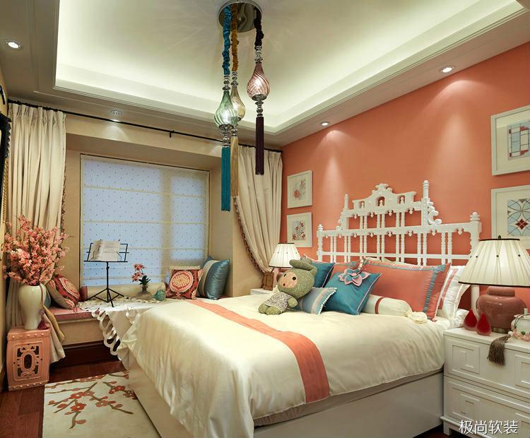『 装修家居 』 新中式样板房软装设计,现代角度 .