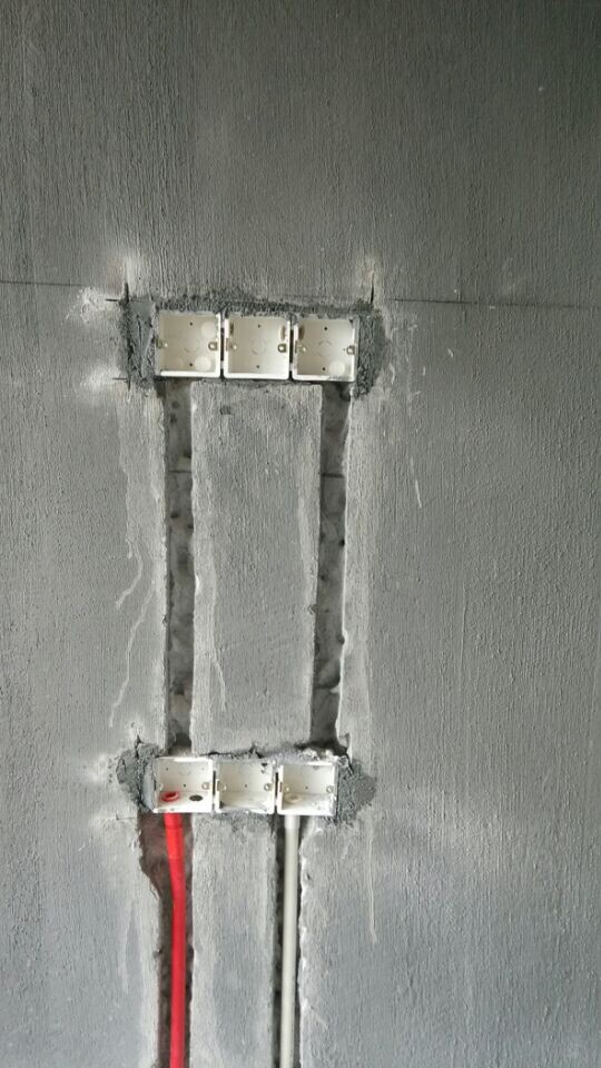 智慧谷现场装修施工图 水电完工