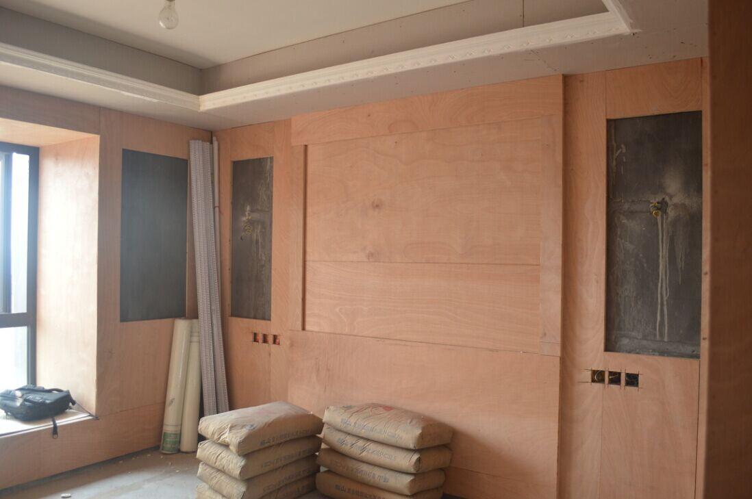 客厅背景,细木工板打底