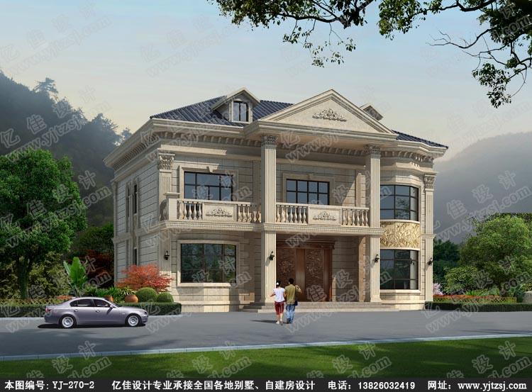 二层 欧式小 别墅 设计图 农村自建 房设计图纸