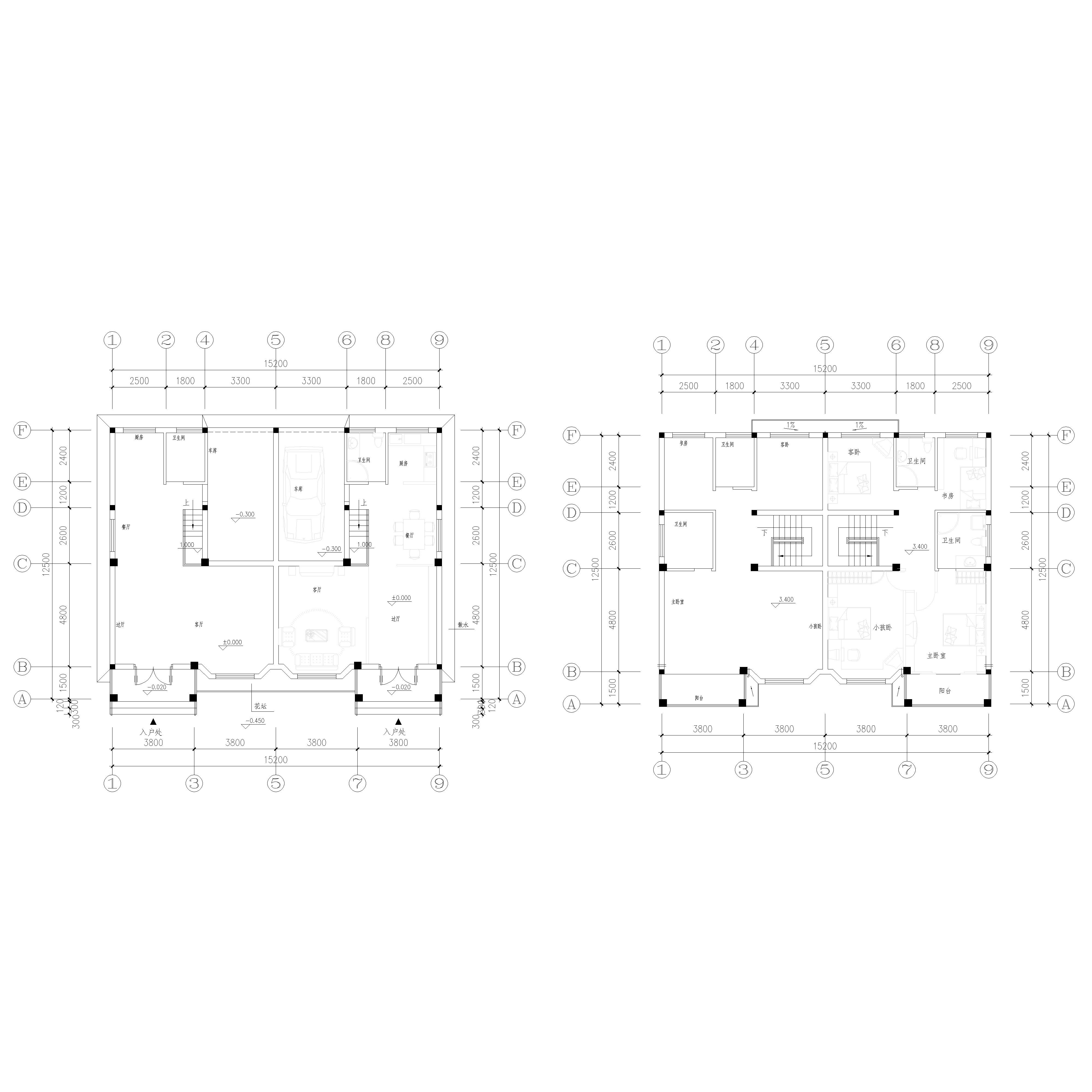 求兩間3樓裝修平面圖