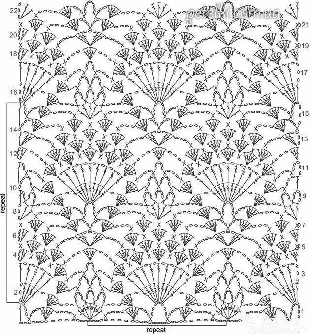 """几种""""变种""""菠萝花的钩针编织花样详解,雀羽赫然在列!"""