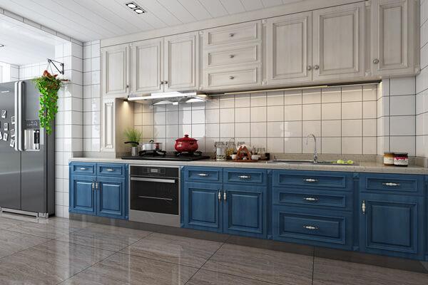 【慈溪品創飾家裝飾】美式風格廚房吊頂裝修效果圖有哪些特點?