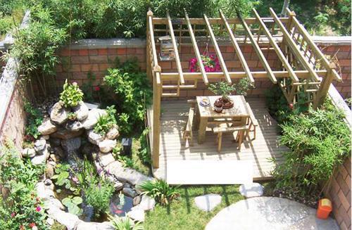 屋顶阳台花园,园林景观效果图设计