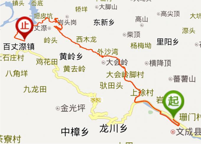 盘山风景区游览地图