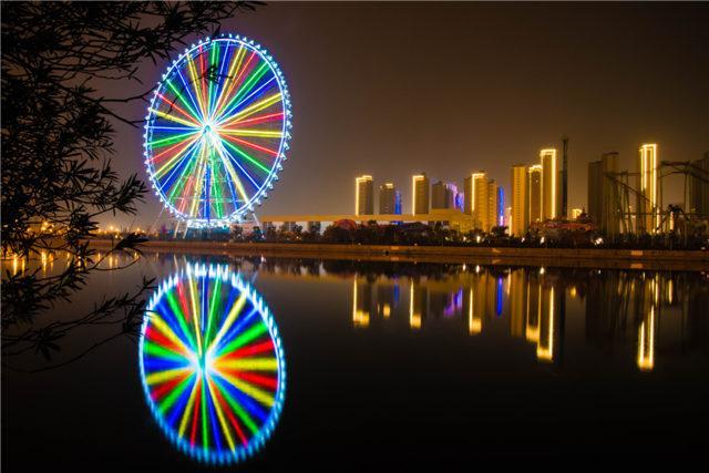 每晚灯光点亮时,这里就是杭州湾最浪漫的地标.